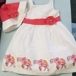 Girls elephant dress and hat